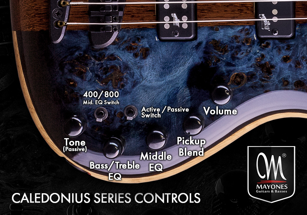 Caledonius Series Basses Control Layout