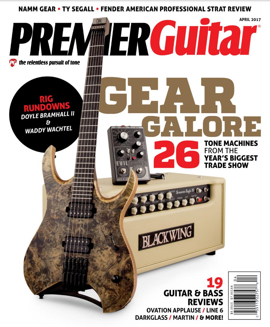 PREMIER GUITAR Magazine April 2017 Cover