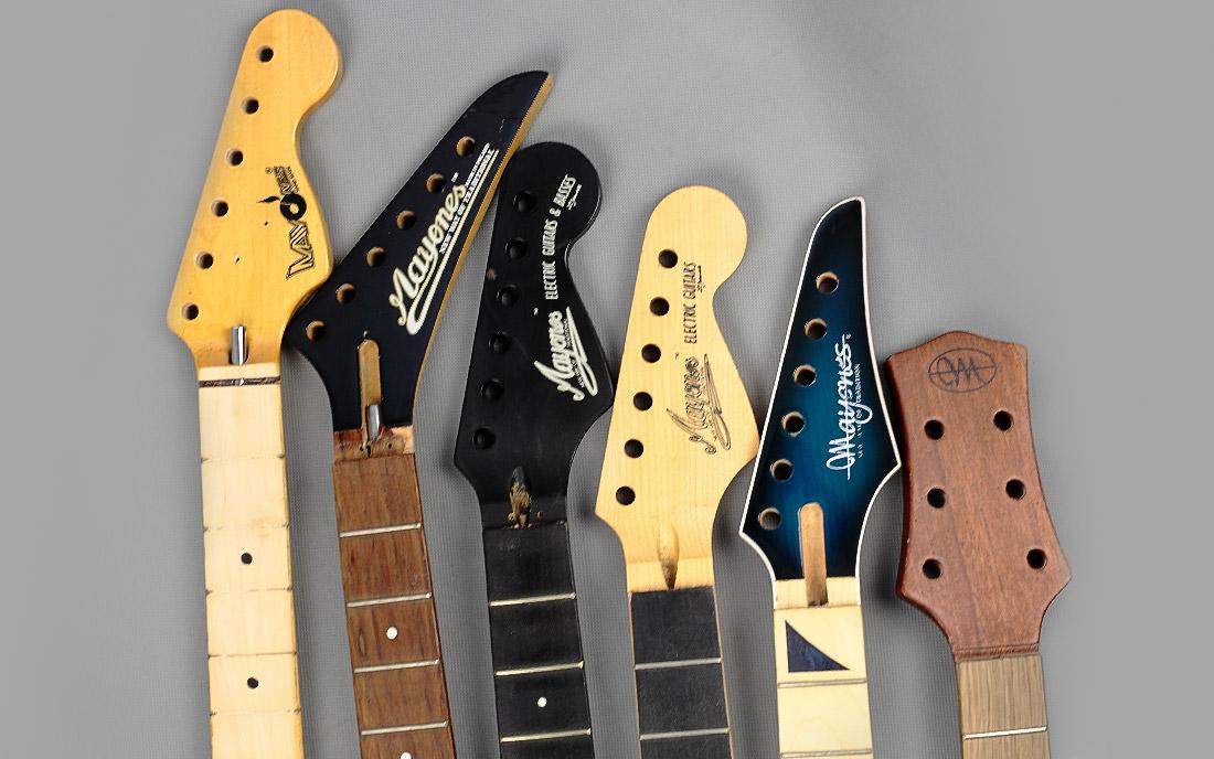 1983 - 2006 - Loga na gitarach Mayones w latach od 1982 do 2005