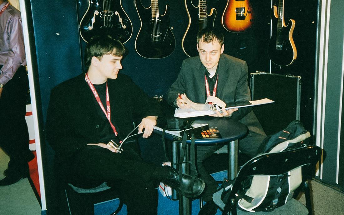 2003 - Dawid oraz Tomasz Dziewulscy na targach Musikmesse