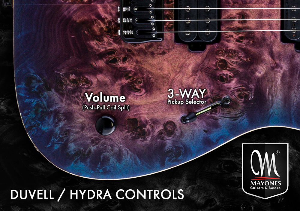 Duvell Series Guitars Control Layout