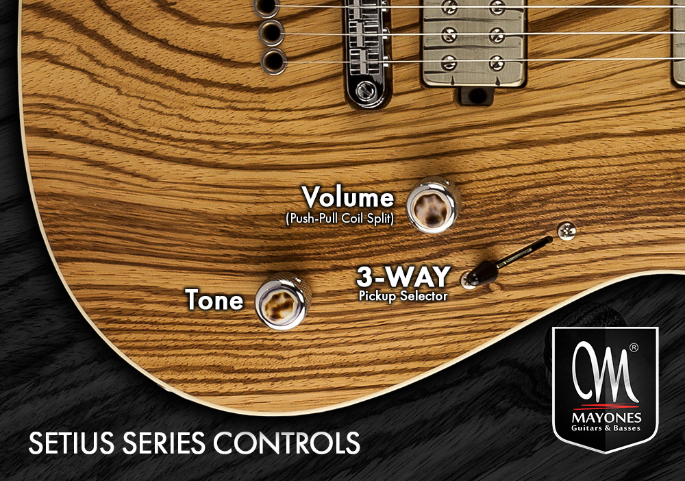 Setius Series Guitars Control Layout