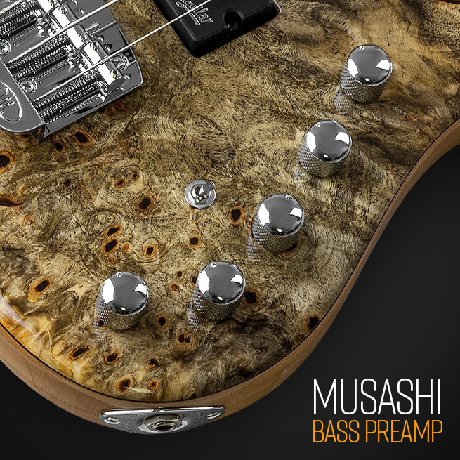NAMM 20199 – Musashi – 2-band, boost only preamp made in japan.