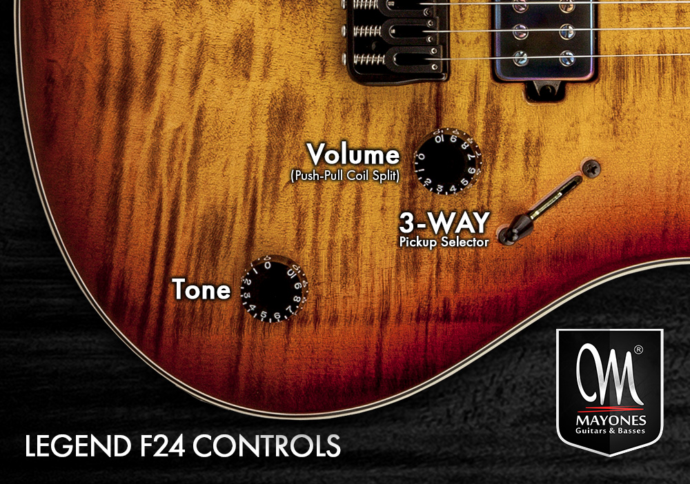 Legend F24 Guitars Control Layout