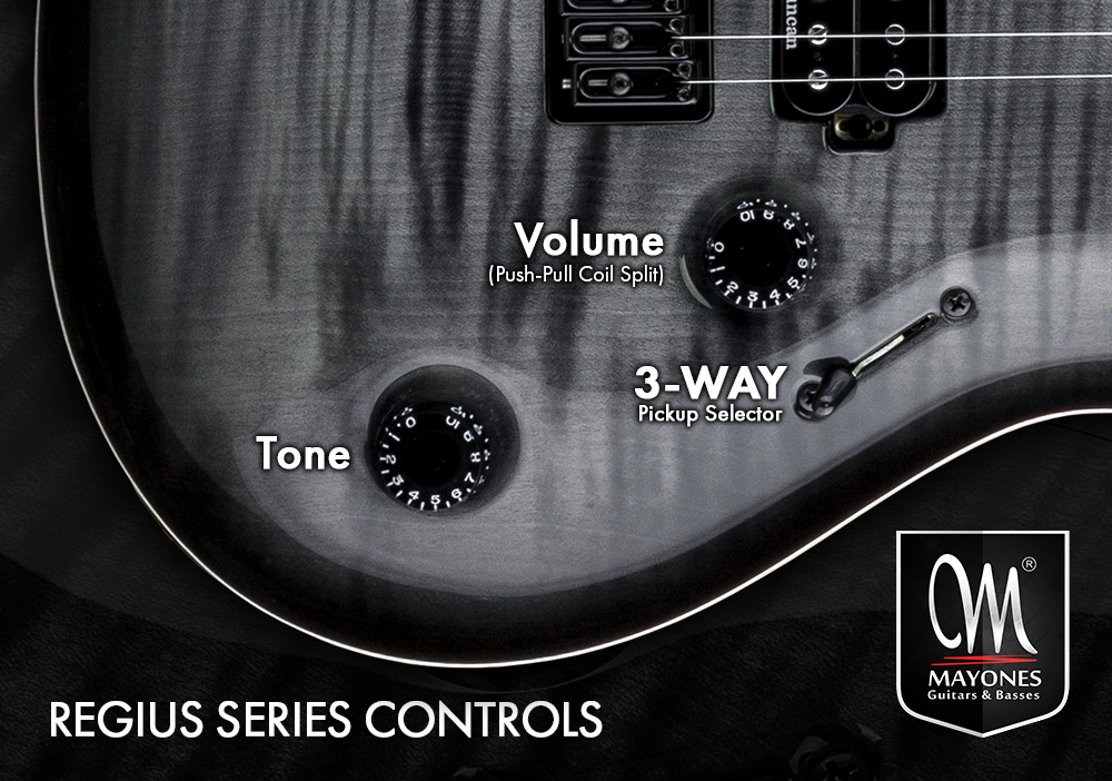 Regius Series Guitars Control Layout