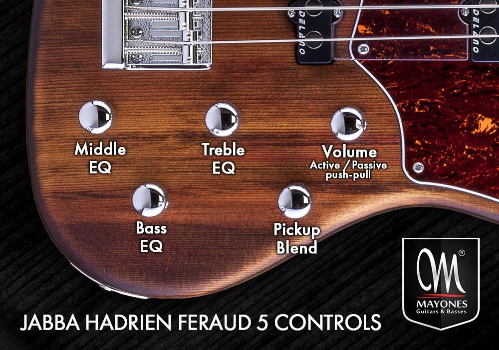 Jabba Hadrien Feraud 5 Signature Bass - Układ potencjometrów