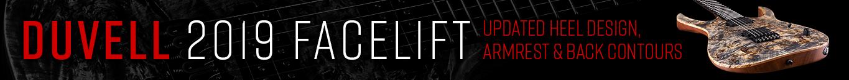 DUVELL 2019 FACELIFT – Updated heel design, armrest & back contours.